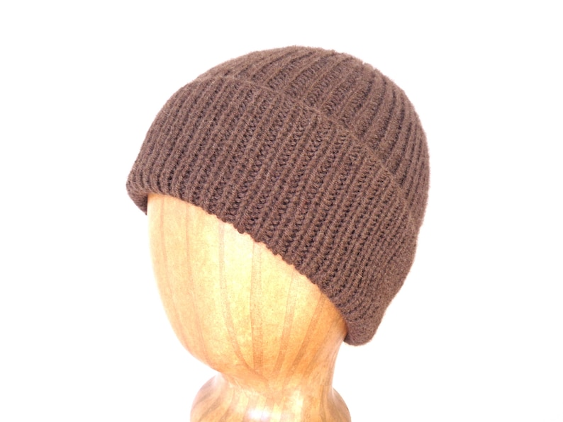2b63632c8f9 Yak Fiber Hat Dark Brown Beanie Hat Watch Cap Luxury Knit