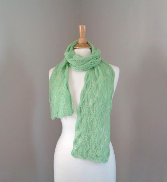 Blatt grün Kaschmir-Schal Schal stricken Luxus Spitzen | Etsy