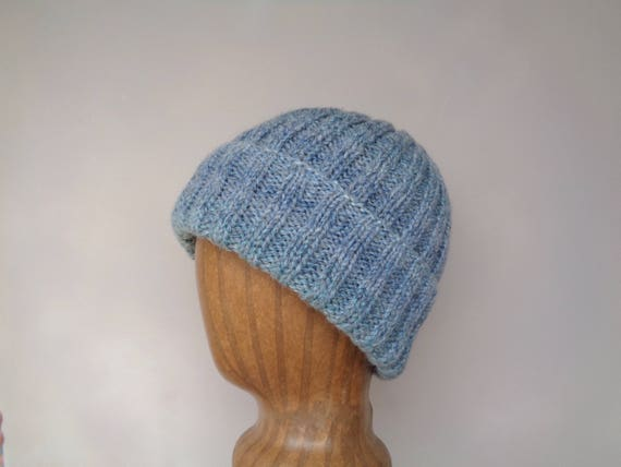 2b7f18759f93d Multicolor Beanie Hat for Men Hand Knit Wool Blend Teen