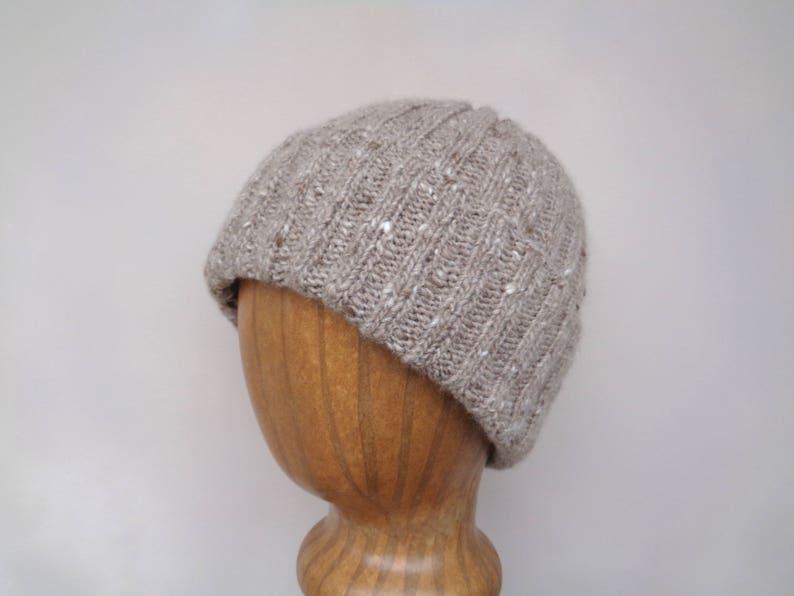 47673604236 Cashmere Blend Hat Watch Cap Hand Knit Beanie Handspun