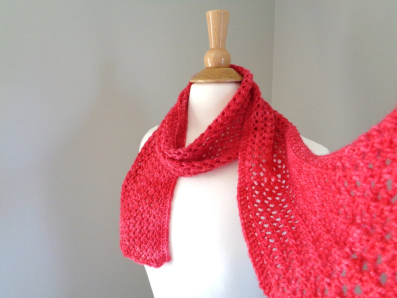Strawberry Red Scarf for Women & Teen Girls Cashmere Blend image 0