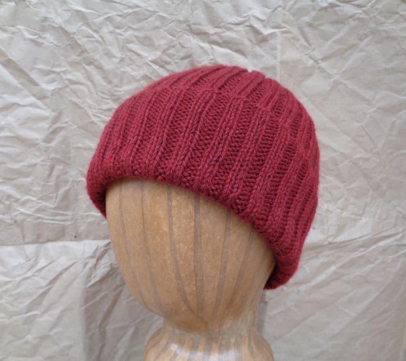 233cfbf6e35 Burgundy Red Cap Cashmere Knit Hat Watch Cap Beanie Luxury