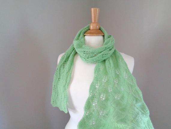 Blatt grün Kaschmir-Schal Schal stricken Luxus Spitzen   Etsy