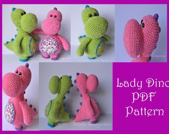 Lady Dino Amigurumi Pattern