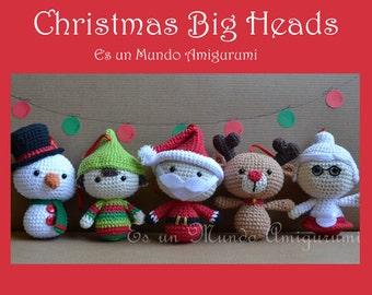 Christmas Big Heads Figures