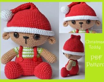 Christmas Teddy Amigurumi Pattern