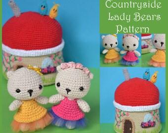 Lady Bears and Countryside House Amigurumi Pattern