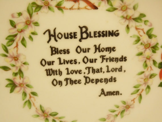 Vintage House Blessing Plate Florida Souvenir Made In Etsy