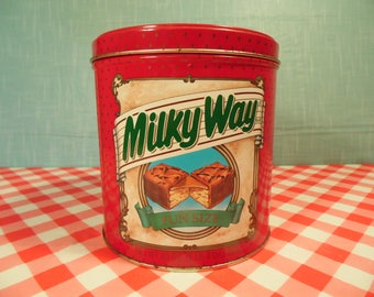 Vintage Milky Way Canister  - 1989 Collectible Tin