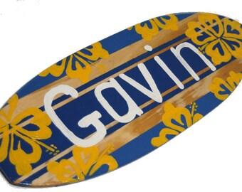 Custom Surfboard Art, Teen Boys Bedroom, Beach House Decor, Gavin