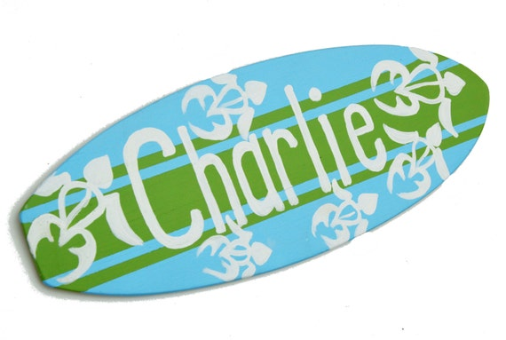 Turquoise with turtle. Five foot surfboard wall hanging Beach wall d/écor Surfboard wall art