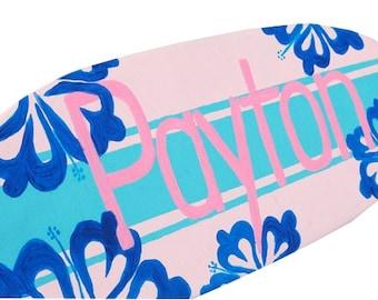 Decorative Surfboard Art, Beach Theme Girls Room Decor, 18 inch