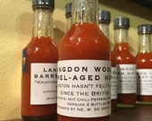 SMALL bottle L.W. 1814 Barrel Aged Hot Sauce - LIMITED EDITION