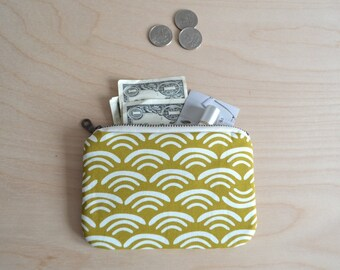 Small zipper pouch in Waves