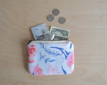 Small zipper pouch in Summer Bloom