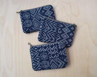 Small zipper pouch in Stencil - coin purse, mini wallet