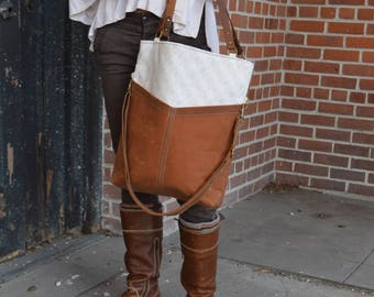 Everyday Tote in Sienna Waxed Canvas