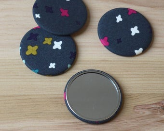 Pocket Mirror backed with Plus Fabric