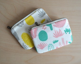 Small zipper pouch in Cactus