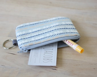Pouch with Key Ring in Fringe