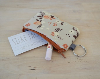 Pouch with Key Ring in Rose Garden