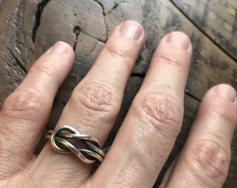 Square Knot Sterling Silver Ring
