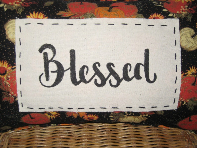 Blessed Pillow Living Room Decor- Housewarming Harvest Decor Ready to Ship Holiday Gift Accent Pillow