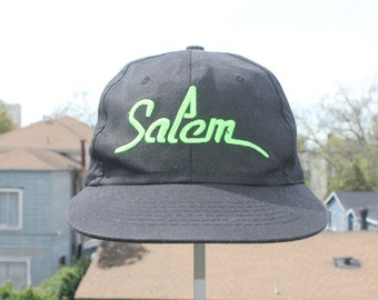 d84ed44c88cdf Salem Cigarette Baseball Cap Hat Snapback Black Neon Green