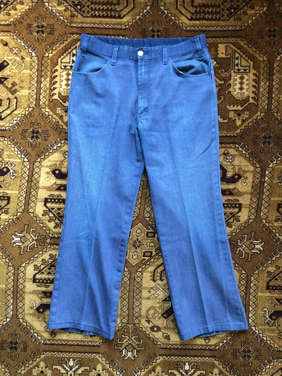 Vintage Dickies Pants Made in USA Blue 1970s Size