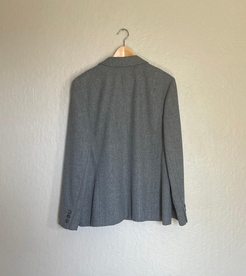 1970s Pendleton Wool Jacket Coat Blazer Medium Gray
