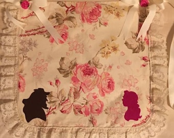 Be Our Guest Child Apron with pockets-Disney-Belle-Beauty-Beast-Gaston-Rose-overall-pinny-cover-shield-smock-pinafore-protection barrier