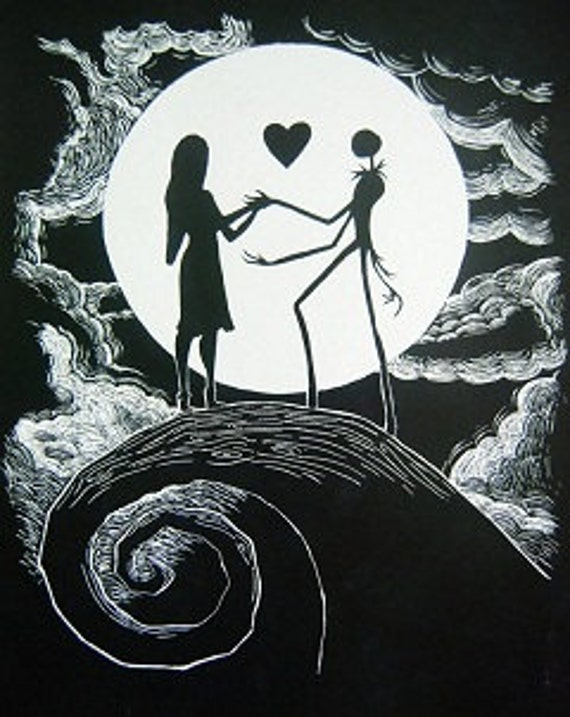 Jack And Sally Black And White