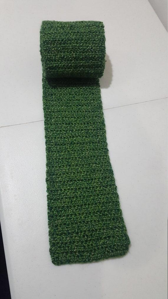 Handmade Crochet Scarf From Lion Brand Homespun Yarn In Etsy