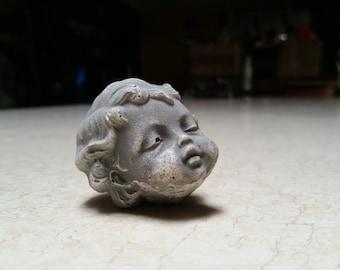 """Small Ceramic Cherub Head  2"""""""