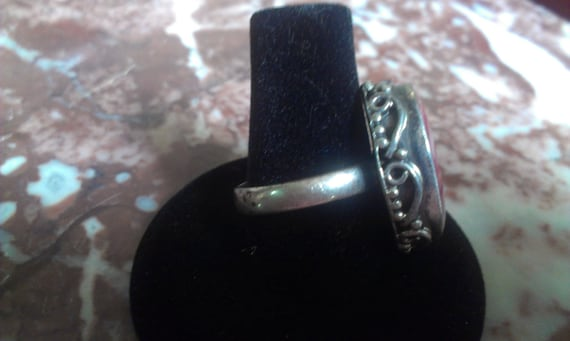 Beautiful Big Ruby Victorian Silver Sterling Vint… - image 2