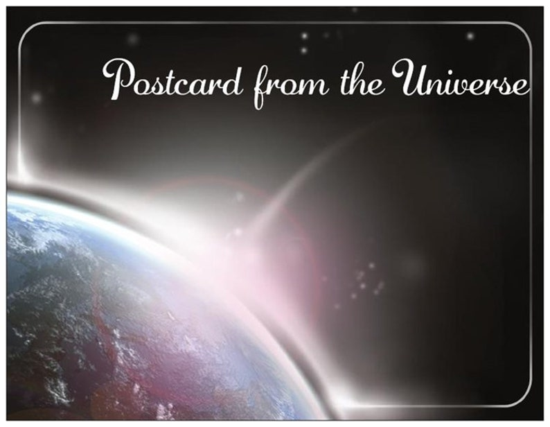 Handwritten Postcard from the Universe image 0