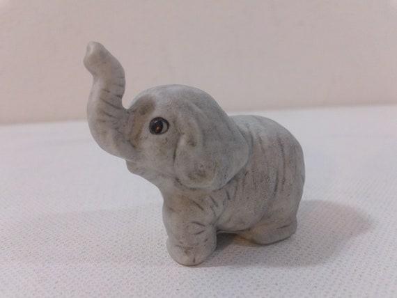 Lovely Vintage Miniature Porcelain Elephant Figurine | Etsy