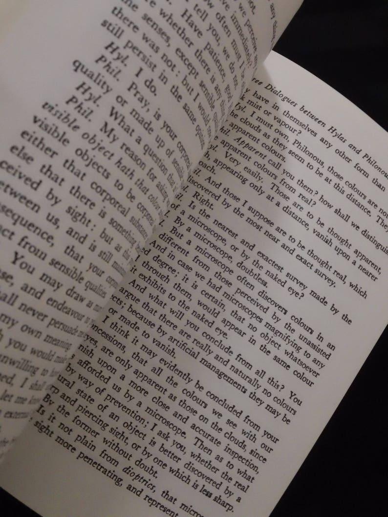 Principles of Human Knowledge/ Three Dialogues between Hylas & Philonous by  George Berkeley ~ Vintage 1988 Paperback Philosophy Book