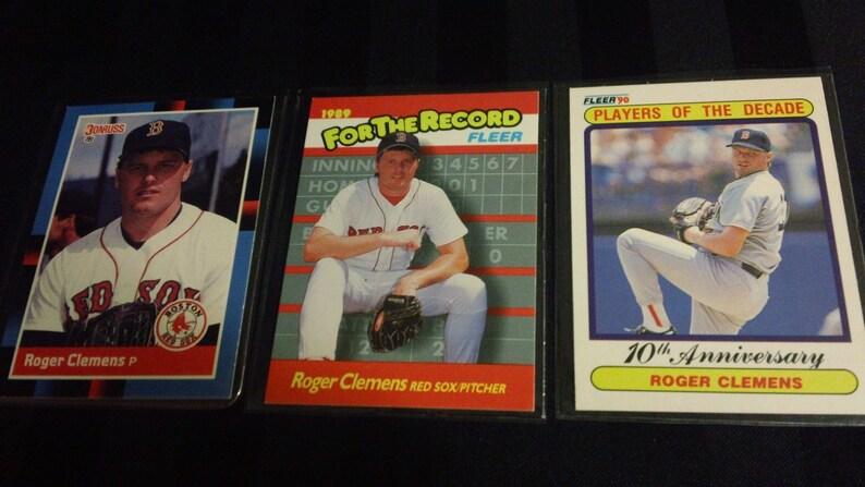 Vintage Trading Cards 11 Different Roger Clemens Baseball Cards 1988 92