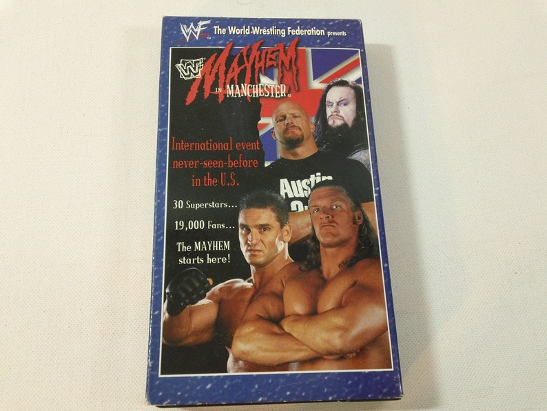 WWF Mayhem In Manchester (Pro Wrestling video) VHS cassette - 60min (WWF  Home Video,1998)