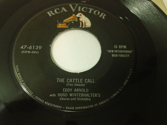 Eddy Arnold The Cattle Call The Kentuckian Song 47 06139 Etsy