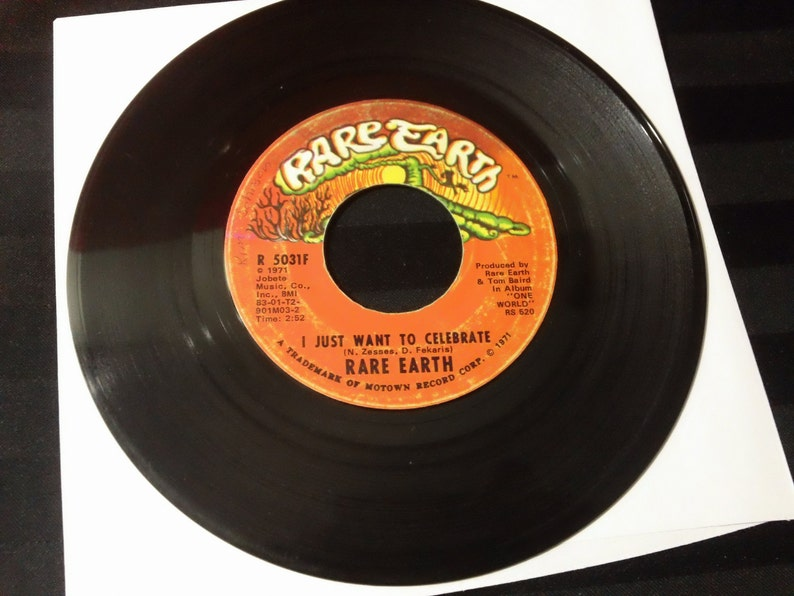 Rare Earth - I Just Want To Celebrate / The Seed - R 5031F - 7