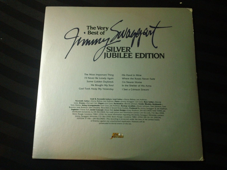 The Very Best Of Jimmy Swaggart (Silver Jubilee Edition) - JIM 24 141 - 12