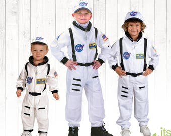 Astronaut Halloween Kids Costume Kids Personalized Astronaut Outfit Kids Dress Up Career Day Costume Space Suit Halloween Costume kids gift