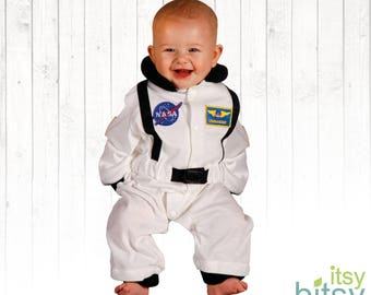 Astronaut Halloween Baby Costume, Personalized Astronaut Outfit, 6-9 Month Romper, Space Suit, Astronaut, Halloween Baby Costume, One Size