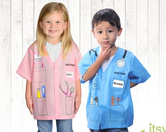 Kids Doctor Costume Kids Halloween Costume Personalized Career Day Outfit Kids Dress Up Kids Doctor Uniform Halloween Costume Girl Costume  sc 1 st  Etsy & Kids dress up | Etsy