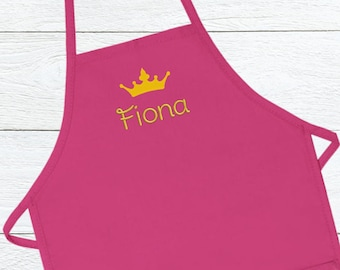 644e536545f2 Personalized Apron for Kids, Embroidered kids apron, Custom Kids Apron