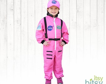 7ef962505cda Pink Astronaut Kids Costume Personalized with Name