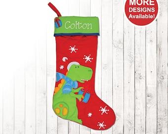 kids personalized stocking stephen joseph christmas stocking kids stocking christmas dinosaur stocking family stockings girl stocking - Christmas Stockings For Kids