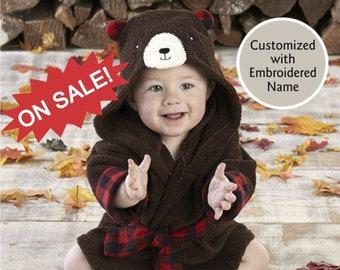 CLOSE OUT Brown Bear Hooded Bath Robe 46f5ff3cb